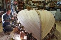 Installing the shear plank.
