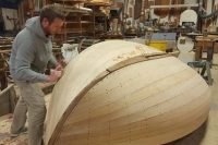 Fairing up the hull.