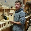 Bluebird Houses Introduced at the Beetle Boat Shop